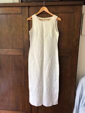 Brooks Brothers 100% Irish Linen White Maxi Dress Size 10 NWOT