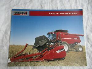 Case CASEIH 8010 combine 3400 corn heads headers brochure