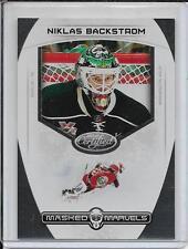 11-12 Certified Niklas Backstrom Masked Marvels # 16