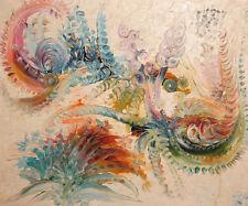 Vintage Modernist Floral Oil Painting