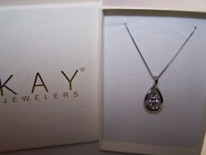 """NEW KAY JEWELERS """"SAPPHIRE IN RHYTHM"""" SHIMMERING INFINITY STERLING PENDANT&CHAIN"""