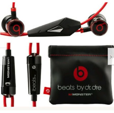 Original OEM Genuine Monster Beats  Dr. Dre iBeats Headphones  Black With Pouch