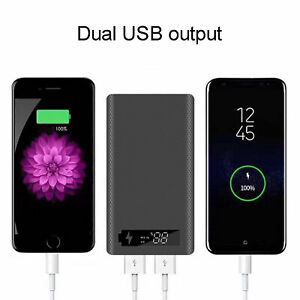 USB TYPE-C M6 PORTABLE POWER BANK  DIY18650 WITH LCD SCREEN LED LIGHT