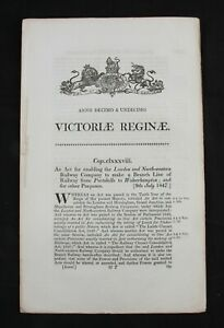 Railway Act London & North Western Railway branch line to Wolverhampton 1847