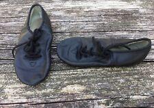 Unisex Child Jazz Dance Shoes Black Leather Size 12.5