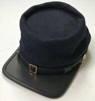 CIVIL WAR US UNION INFANTRY NAVY BLUE WOOL KEPI FORAGE CAP HAT-LARGE
