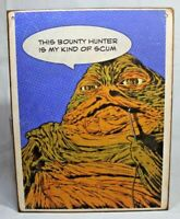 JABBA THE HUTT Star Wars P@P comic book Handmade wood vintage sign