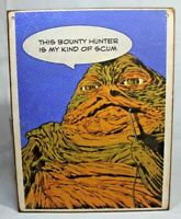 JABBA THE HUTT Star Wars P@P comic book Handmade wood vintage sign