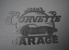 CORVETTE C6  Garage Sign 8 Feet Wide Brushed Silver