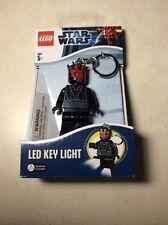 """NIB.STAR WARS  Darth Maul Figure Keychain - 3"""" LED Key Light by LEGO. NEW"""