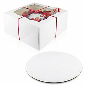 10 Pack of Each Cake Boxes 10 Inch Cake Boards Set – 10 Sturdy Cake Box 10 x ...