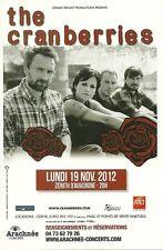 FLYER PLV - THE CRANBERRIES : CONCERT LIVE 2012 ZENITH AUVERGNE CLERMONT FERRAND