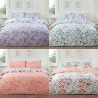 Floral Watercolour Reversible Duvet Set & Pillowcase Single Double King
