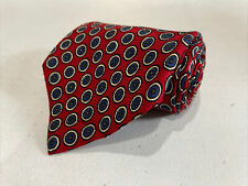 Polo Ralph Lauren Men's Red Circles Geometric Pattern Silk Neck Tie $89