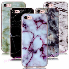 Marble Rock Granite Texture Soft TPU Rubber Gel Case Cover For Various Phones