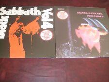 BLACK SABBATH VOLUME 4 & PARANOID LIMITED EDITION COLORED VINYL NEMS PRESSINGS