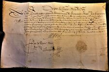 MARIE DE MEDICI QUEEN OF FRANCE AUTOGRAPH wife of Henri IV mother of Louis XIII