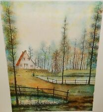 ANTONIO RIVERA FRENCH LANDSCAPE LIMITED EDITION SIGNED LITHOGRAPH WITH C.O.A.#1