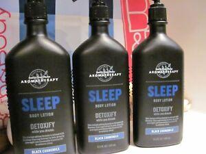 Bath and Body Works 3 Aromatherapy ~SLEEP~ Black Chamomile Detox Body Lotion