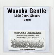 (JI812) Wovoka Gentle, 1,000 Opera Singers - 2018 DJ CD