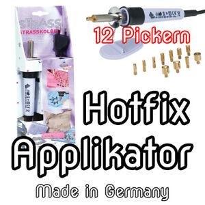 Hotfix Strass Applikator 12 Aufsätzen für Blue Nil  Preciosa SWAROWSKI KRISTALLE