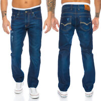 Rock Creek Herren Jeans Hose Blau Used-Look Stonewashed Herrenjeans LL-314 NEU