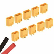 10 x Male RC XT60 Battery Connector + Heat Shrink Plane Helicopter Car