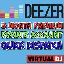 DEEZER PREMIUM * 3 MONTH ACCOUNT * PRIVATE LOGIN