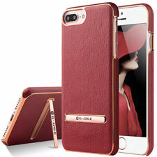 Synthetic Leather Matte Mobile Phone Fitted Cases/Skins with Kickstand