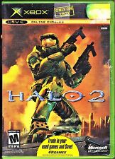 ORIGINAL XBOX LIVE HALO 2, ONLINE ENABLED, BUNGIE, w/ CASE & INSTRUCTION MANUAL