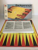 Vintage  Backgammon And Acey-Duecy Board Game by Milton Bradley 1973 Parts