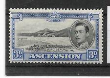 Ascension:1938/53:KGVI-3d.Stamp.Mint.Cat £100+