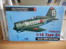 Modelkit Hobbycraft Hobby Craft Polikarpov I-16 Type 24 on 1:48 in Box Sealed