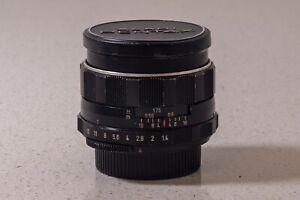Pentax Super Takumar 8 element 50mm f/1.4 lens (rare) M42 mount