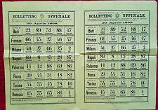 2131-BOLLETTINO UFFICIALE DEL LOTTO PUBBLICO, ROMA,ESTRAZIONI DEL 30 APRILE 1898