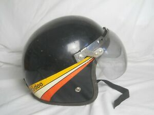 Vintage Ski-Doo Snowmobile Helmet with Visor.  Size unknown.