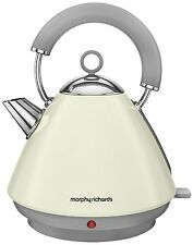 Morphy Richards Accents Pyramid 1.5L Kettle Ivory Cream Stainless Steel 102034