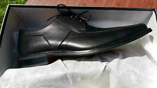 Mens *SALE** Front Black Leather  Classic Formal  Shoes, 11UK, 31CM 100% Leather