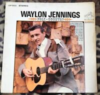 WAYLON JENNINGS - Folk - Country - 1966 (R) Vinyl LP - Orange RCA LSP3523  Ex/Ex