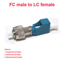 2PCS FC to LC Fiber Adapter- FC/UPC male to LC/UPC female 62.5/125 Multimode