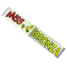 MISS SBRONZA fascia in raso bianca per addio al nubilato festa 2 mt made in ital