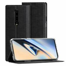 Case For Oneplus 7 Pro Wallet Flip Cover TPU And PU Leather With Kickstand Black