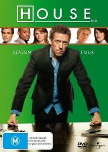 HOUSE M.D. - Season 4 (DVD, 2008, 4-Disc Set)  REG 4...NEW & SEALED   V5
