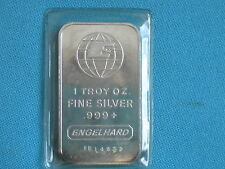 Engelhard Silver Bar - I Troy Ounce - Serial # FE 14927
