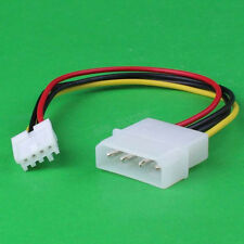 """1Pcs 4Pin To Molex 4Pin PC Computer Fan Extension Adapter Cable Wire 20cm 8"""""""