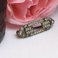 ANTIQUE ART DECO SILVER PIN BROOCH vintage 1930s