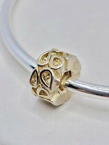 Gold Teardrop Spacer Charm Fits European & Brand Name European Charm Bracelets