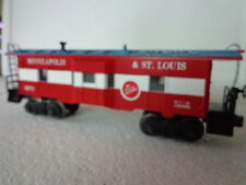 LIONEL O AND 027 MINNEAPOLIS&ST. LOUIS BAYWINDOW CABOOSE