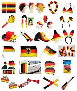 Ver. Deutschland Fanartikel WM EM Fußball Germany Fahne Flagge Party Hut Fan