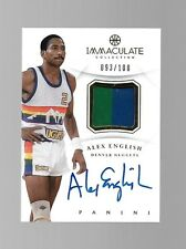 2012-13 Immaculate Alex English Patch Auto #93/100